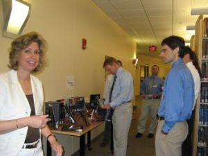 Associate Library Professor and Radiology Liaison, Nancy Bianchi, with Radiology residents at orientation